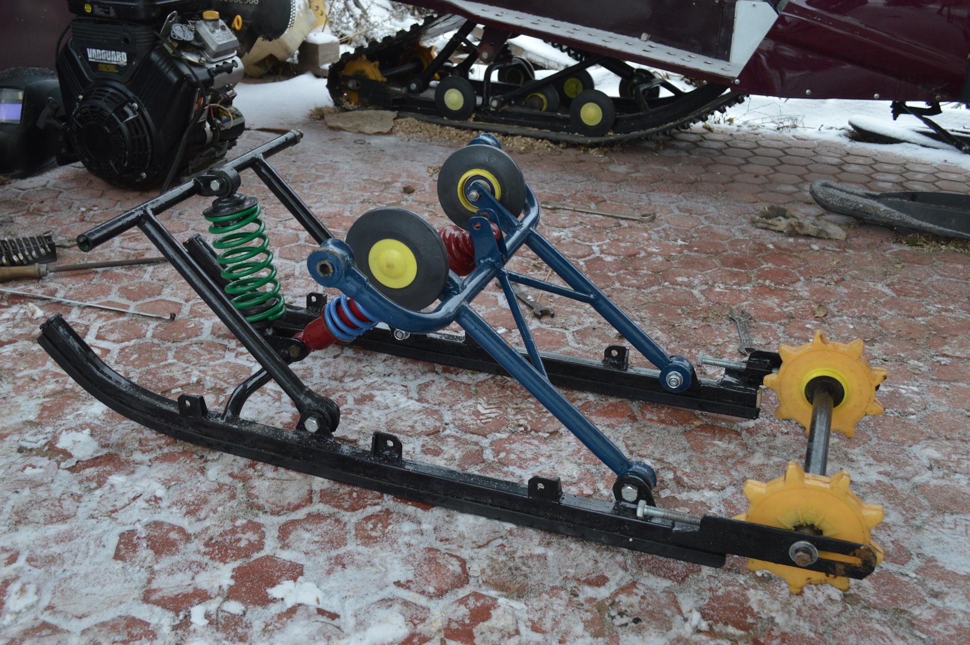 Снегоход для мотоцикла своими руками