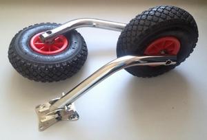 Как правильно установить транцевые колеса