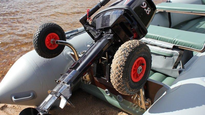Транцевые колеса трансформеры для лодки пвх
